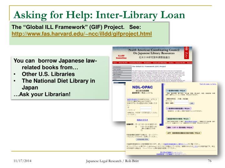 Asking for Help: Inter-Library Loan