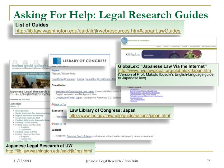 Asking For Help: Legal Research Guides