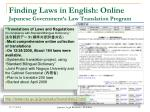 finding laws in english online japanese government s law translation program