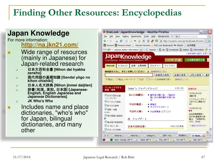 Finding Other Resources: Encyclopedias