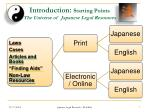introduction starting points the universe of japanese legal resources