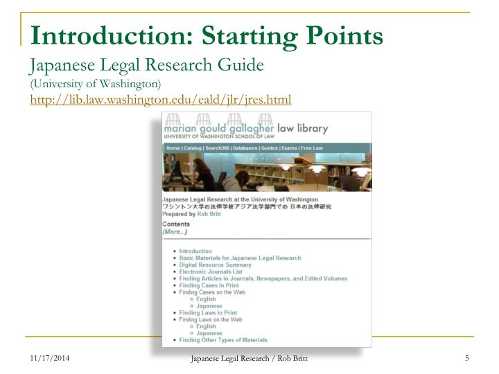 Introduction: Starting Points