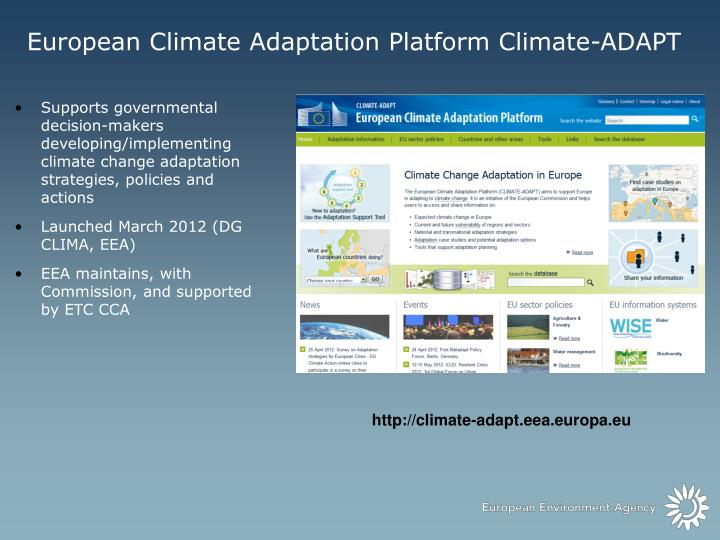 European Climate Adaptation Platform Climate-ADAPT