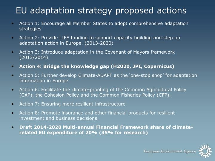 EU adaptation strategy proposed actions