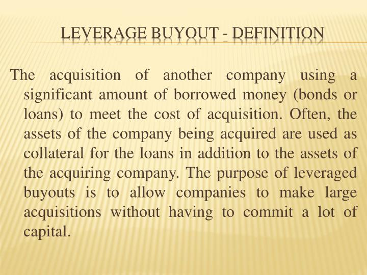 Leverage buyout definition