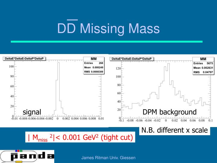 DD Missing Mass