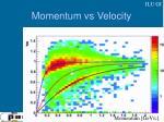 momentum vs velocity
