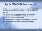 apply pragma membership