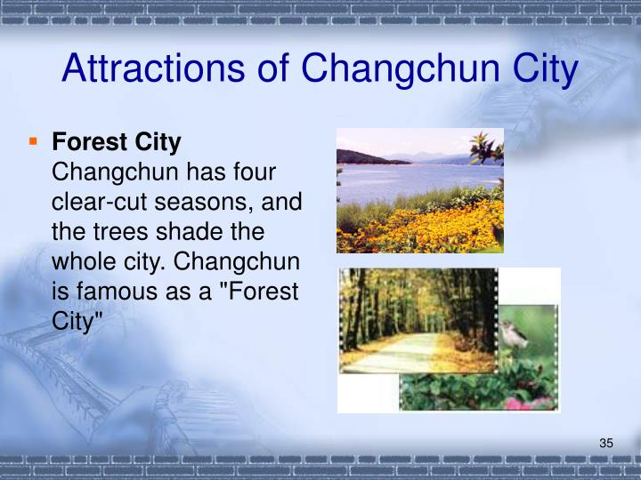 Attractions of Changchun City