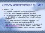 community scheduler framework 4 0 csf4