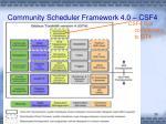 community scheduler framework 4 0 csf41