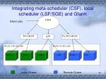 integrating meta scheduler csf local scheduler lsf sge and gfarm