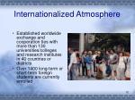 internationalized atmosphere