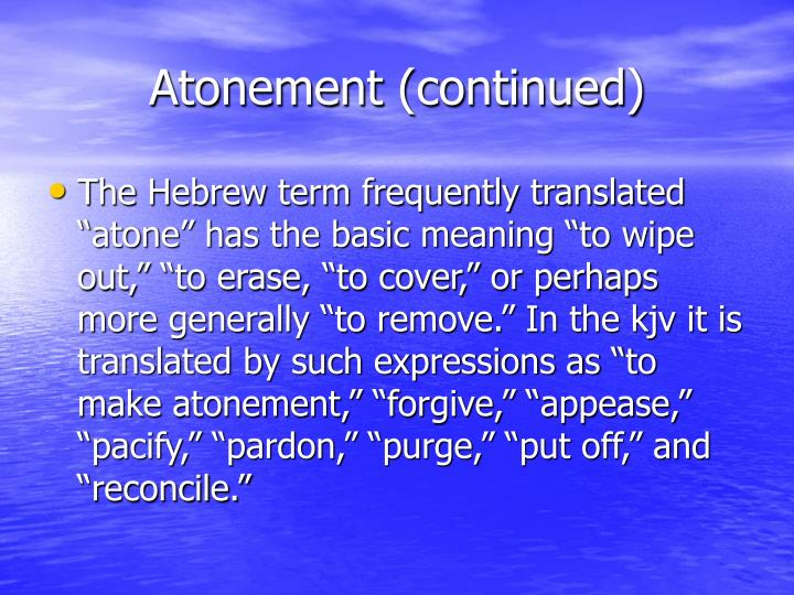 Atonement (continued)