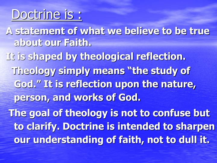 Doctrine is :