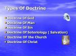 types of doctrine