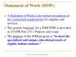 statement of work sow
