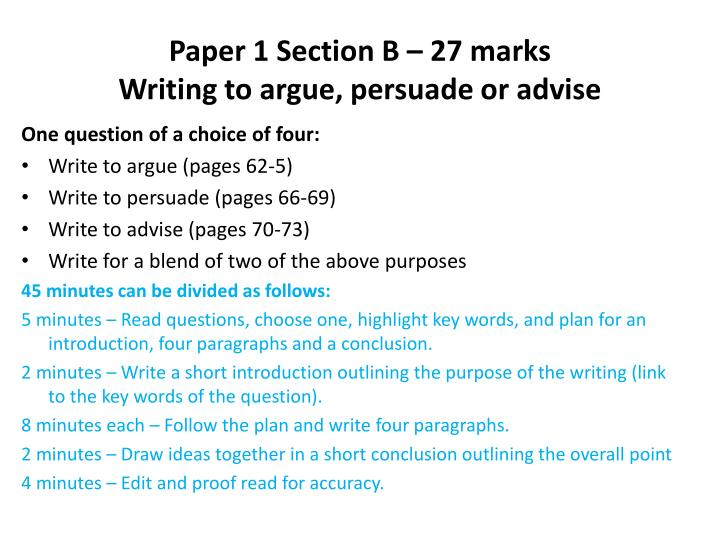 Paper 1 Section B – 27 marks