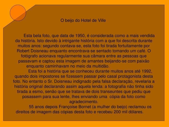 O beijo do Hotel de Ville