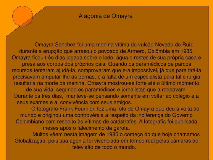 A agonia de Omayra