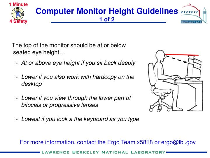 Computer Monitor Height Guidelines