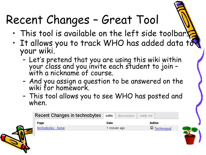 Recent Changes – Great Tool