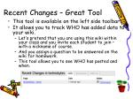 recent changes great tool