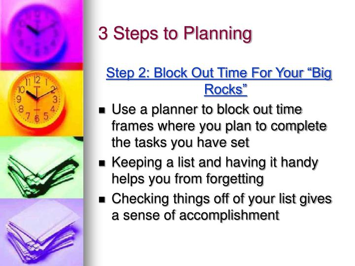 3 Steps to Planning