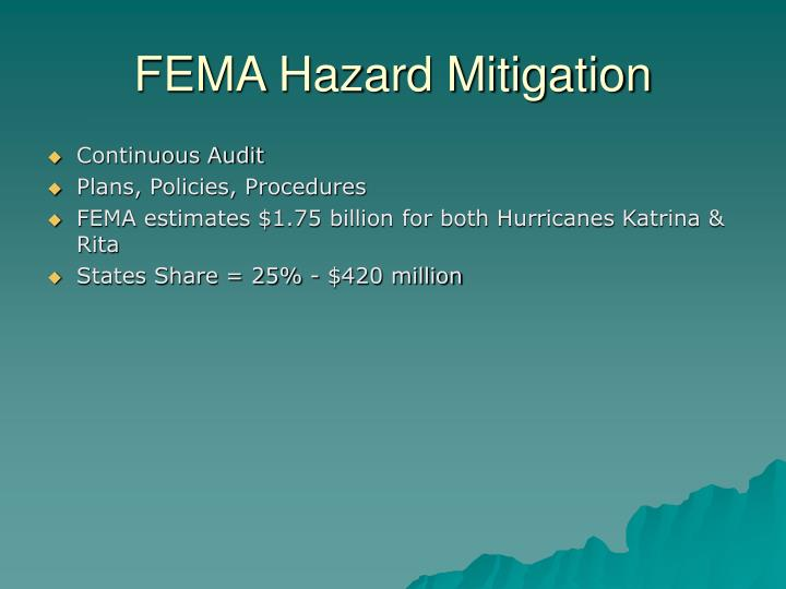 FEMA Hazard Mitigation