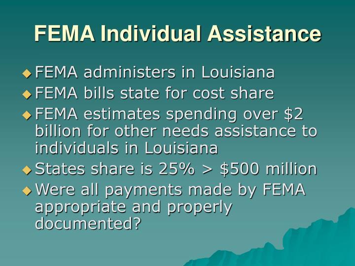 FEMA Individual Assistance