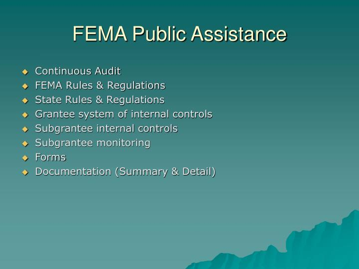 FEMA Public Assistance