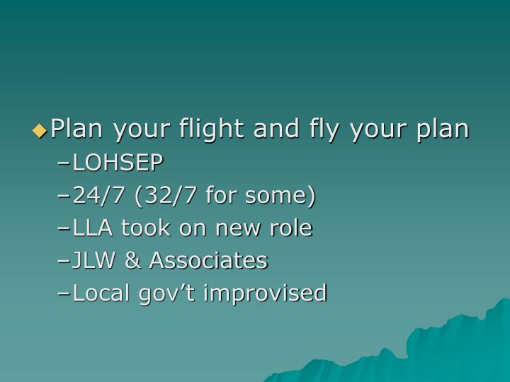Plan your flight and fly your plan