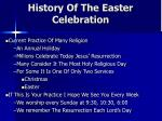 history of the easter celebration