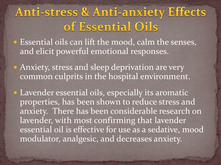 Anti-stress & Anti-anxiety Effects of Essential Oils