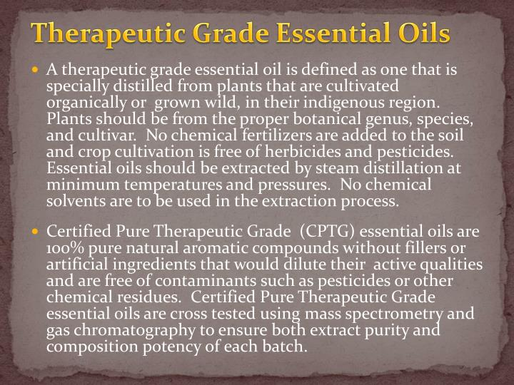 Therapeutic Grade Essential Oils