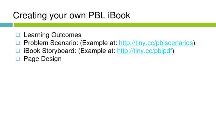 Creating your own PBL iBook