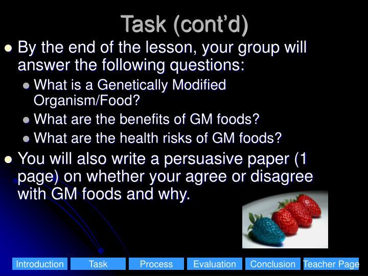 Task (cont'd)