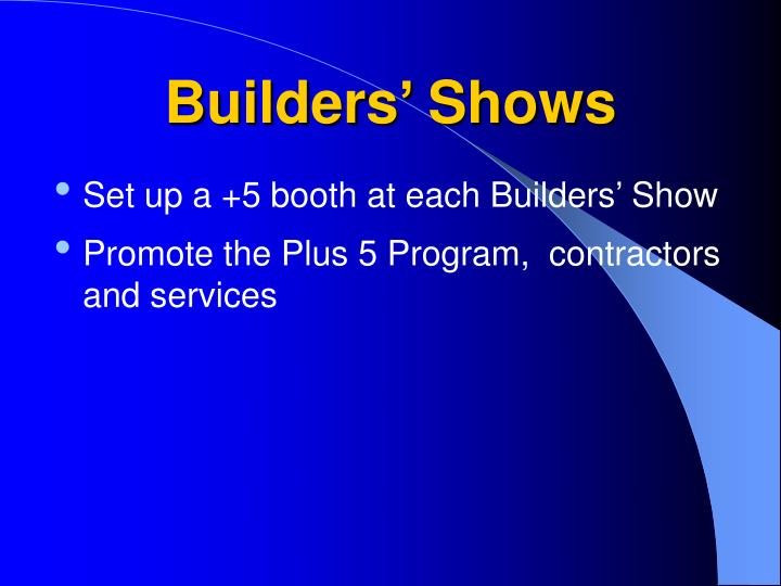 Builders' Shows