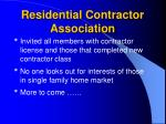 residential contractor association