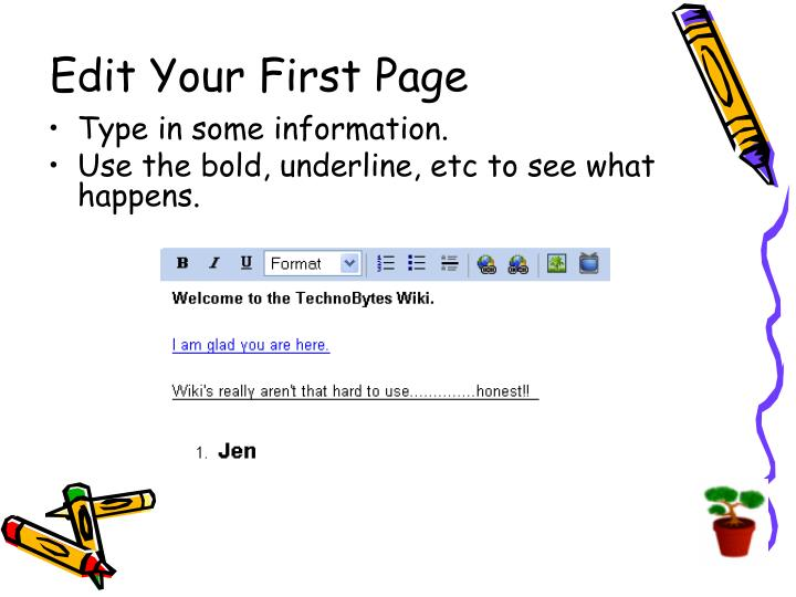Edit Your First Page