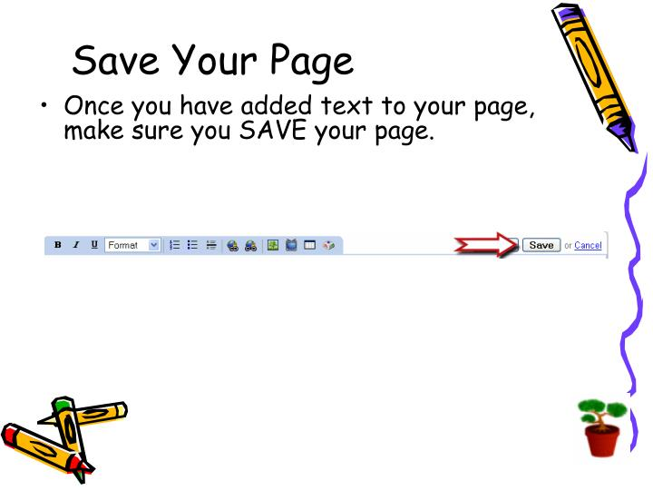 Save Your Page