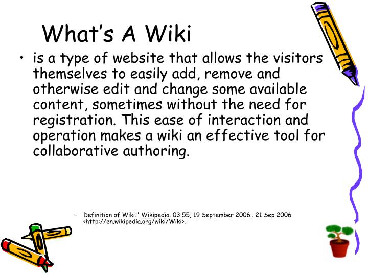 What's A Wiki