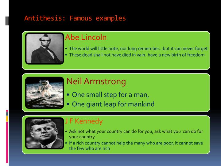 Antithesis: Famous examples