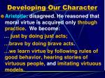 developing our character1