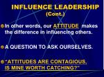 influence leadership cont