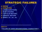 strategic failures
