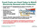 fossil fuels are used today to match electricity demand with production