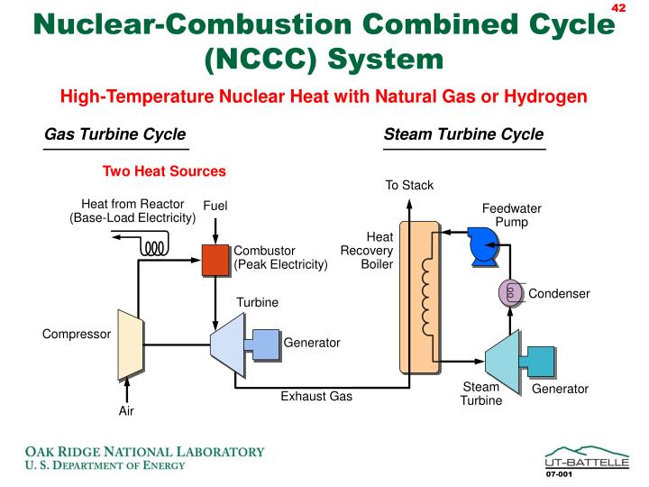 Nuclear-Combustion Combined Cycle