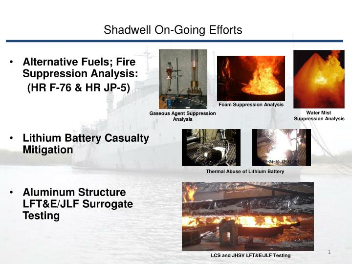 Shadwell On-Going Efforts