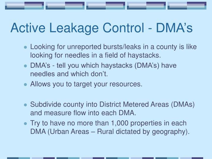 Active Leakage Control - DMA's